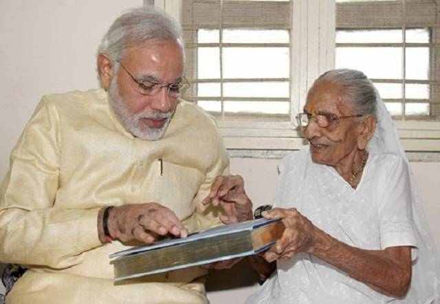 HEERABEN MODI MOTHER OF PM NARENDRA MODI